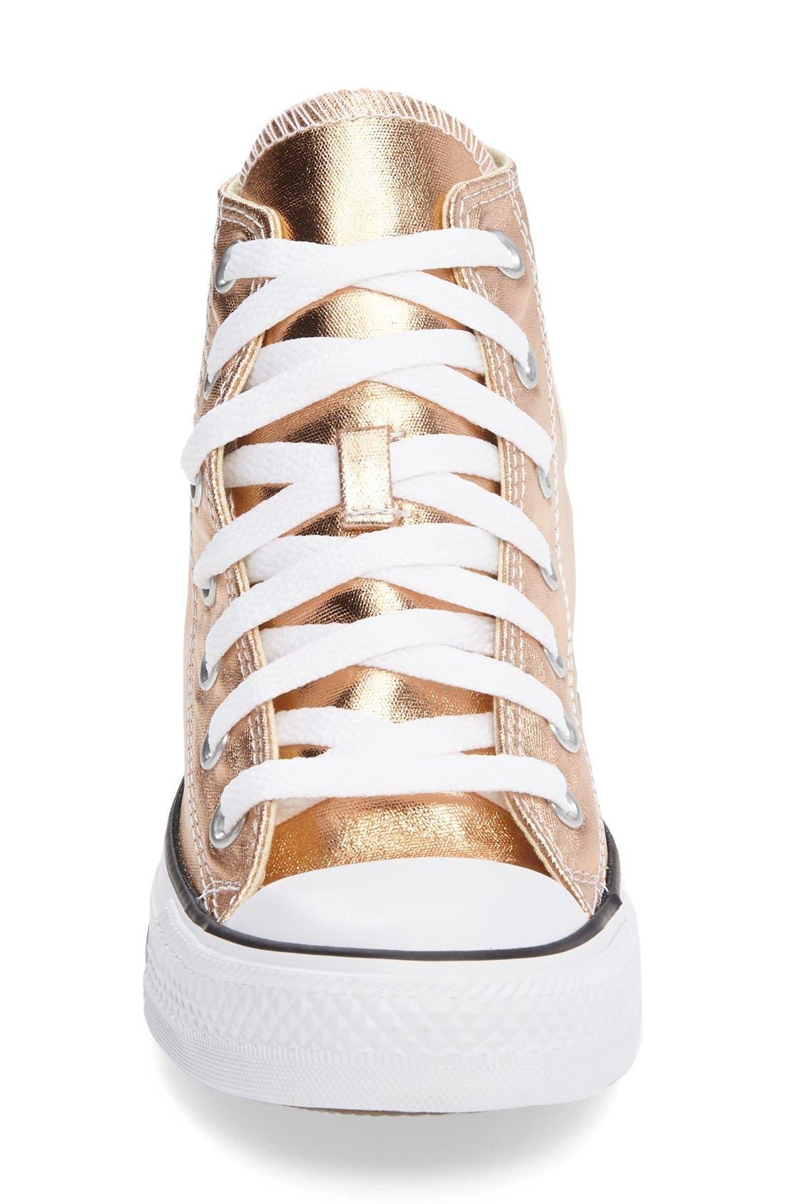 Alternate Image 3  - Converse Chuck Taylor® All Star® Metallic High Top Sneaker (Women)