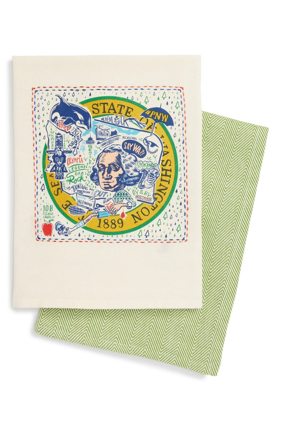 Primitives by Kathy Set of 2 State Dish Towels