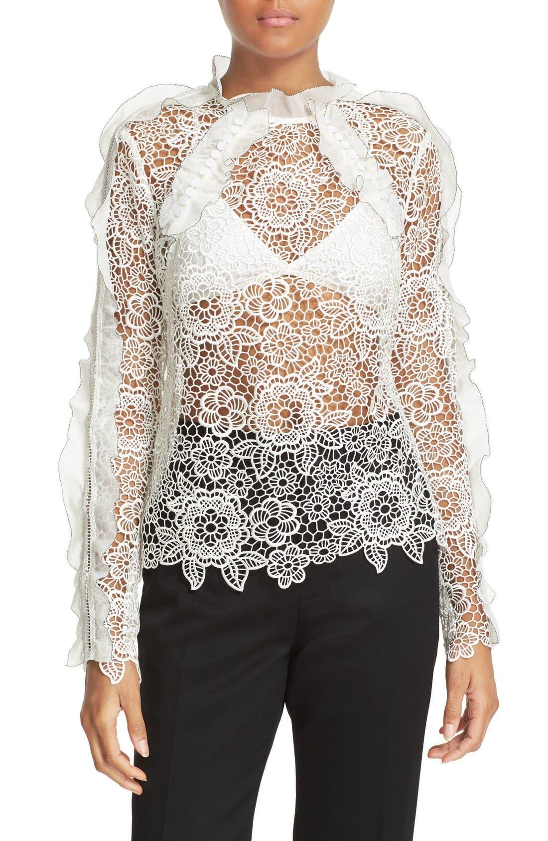 SELF-PORTRAIT Floral Lace Top