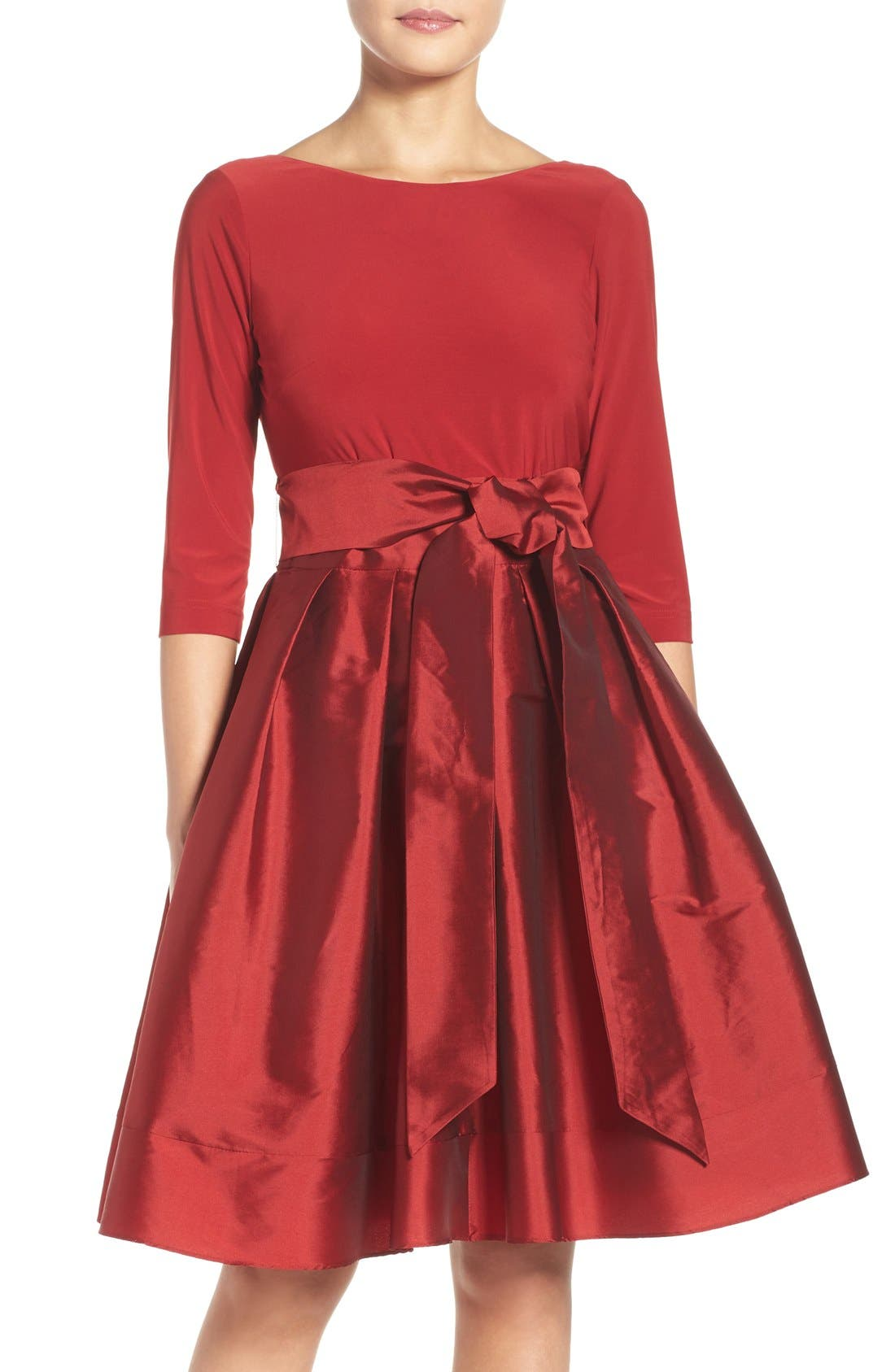 Alternate Image 1 Selected - Adrianna Papell Taffeta Fit & Flare Dress