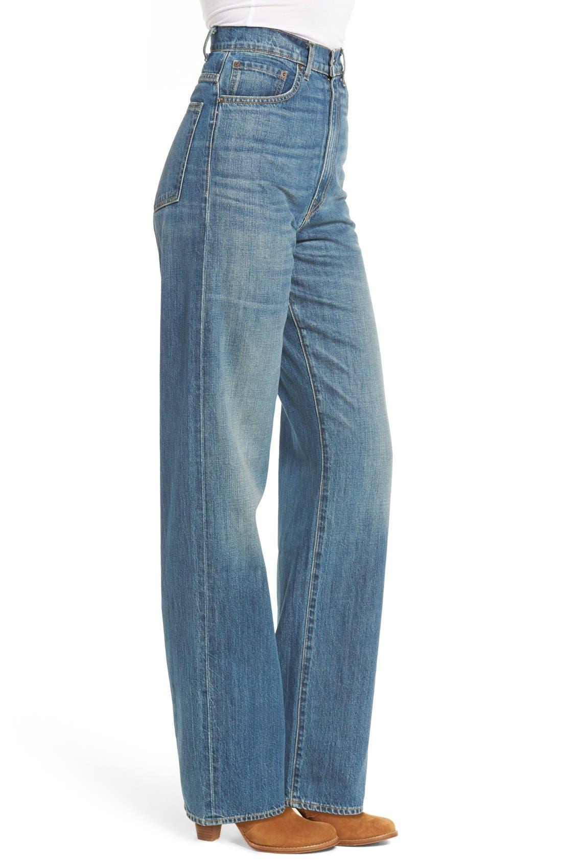 Alternate Image 3  - imogene + willie High Waist Wide Leg Jeans (Abilene)