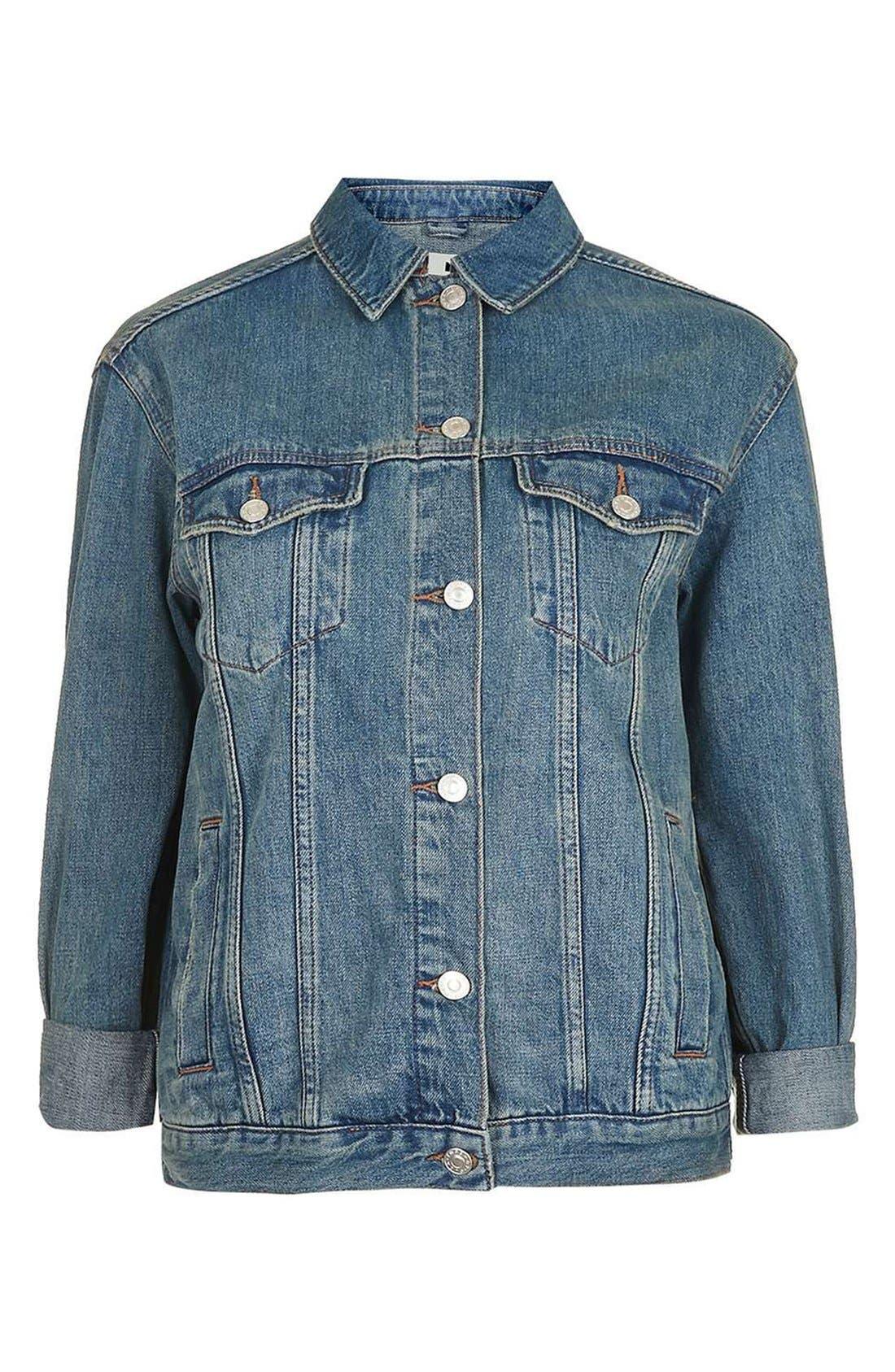 Alternate Image 4  - Topshop Moto Western Denim Jacket