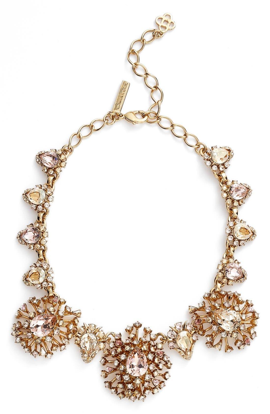 Alternate Image 1 Selected - Oscar de la Renta 'Tiered Crystal' Necklace