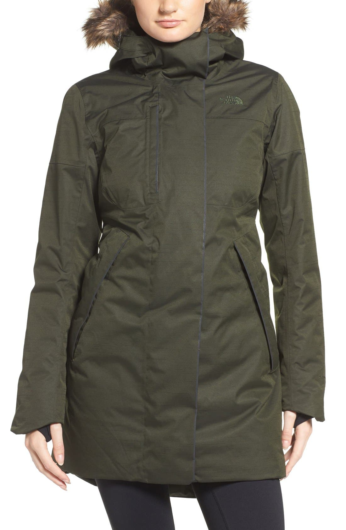 Main Image - The North Face Far Northern Waterproof Down Parka with Faux Fur Trim