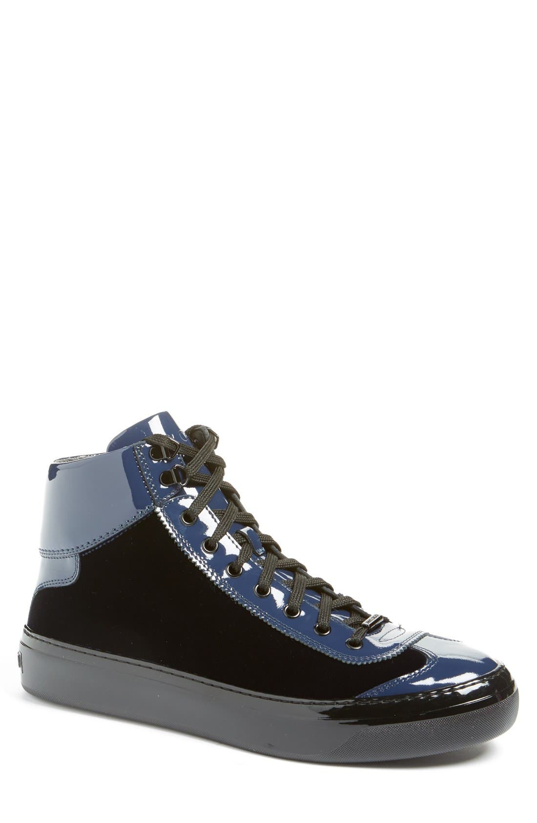 JIMMY CHOO 'Argyle' High Top Sneaker