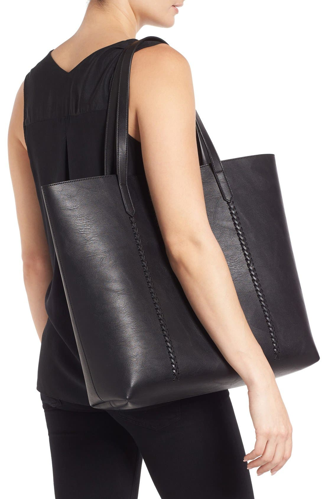 Alternate Image 2  - Phase 3 Faux Leather Tote