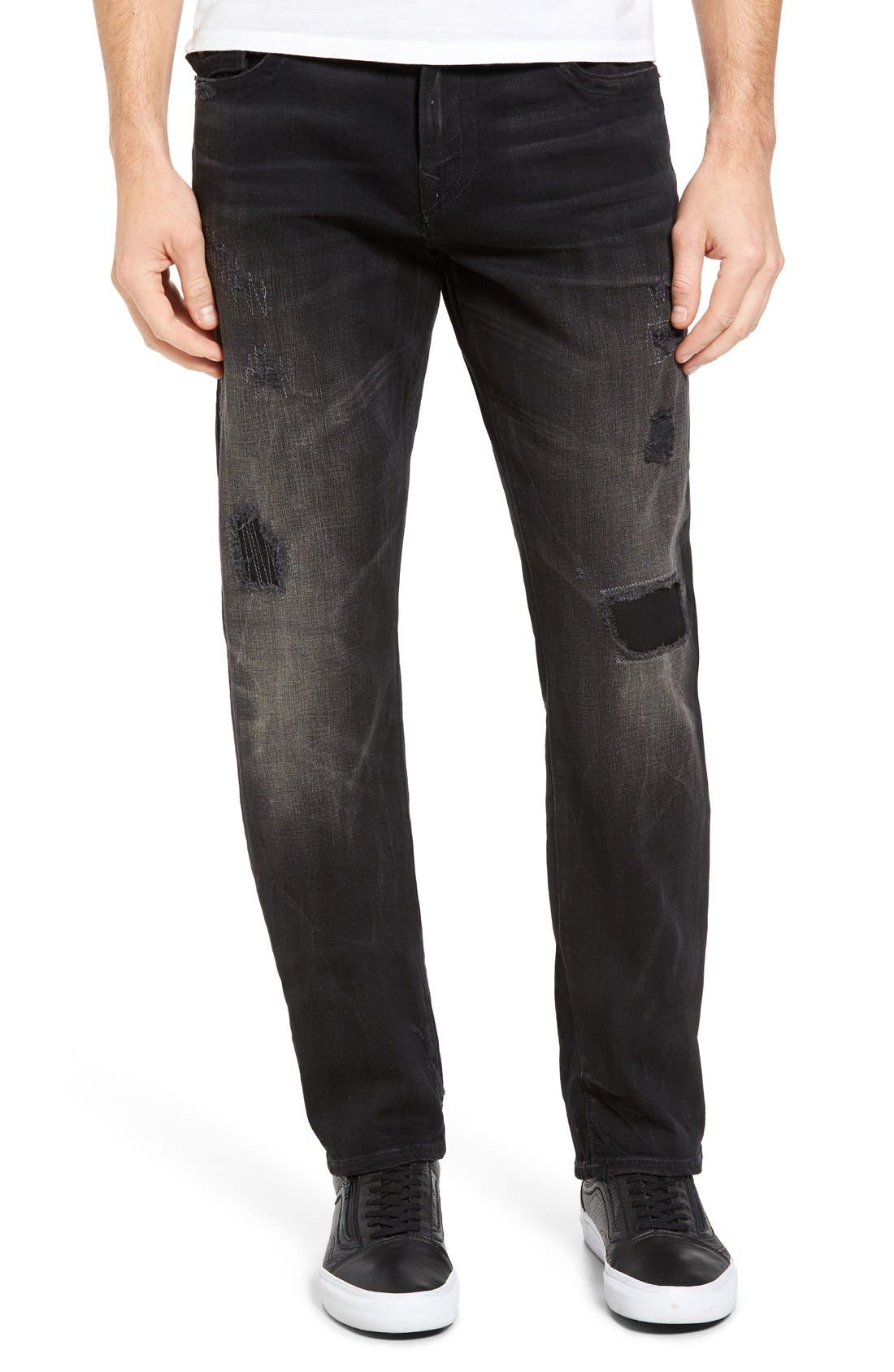 True Religion Brand Jeans Ricky Relaxed Fit Jeans (DKBD Mended Warrior)