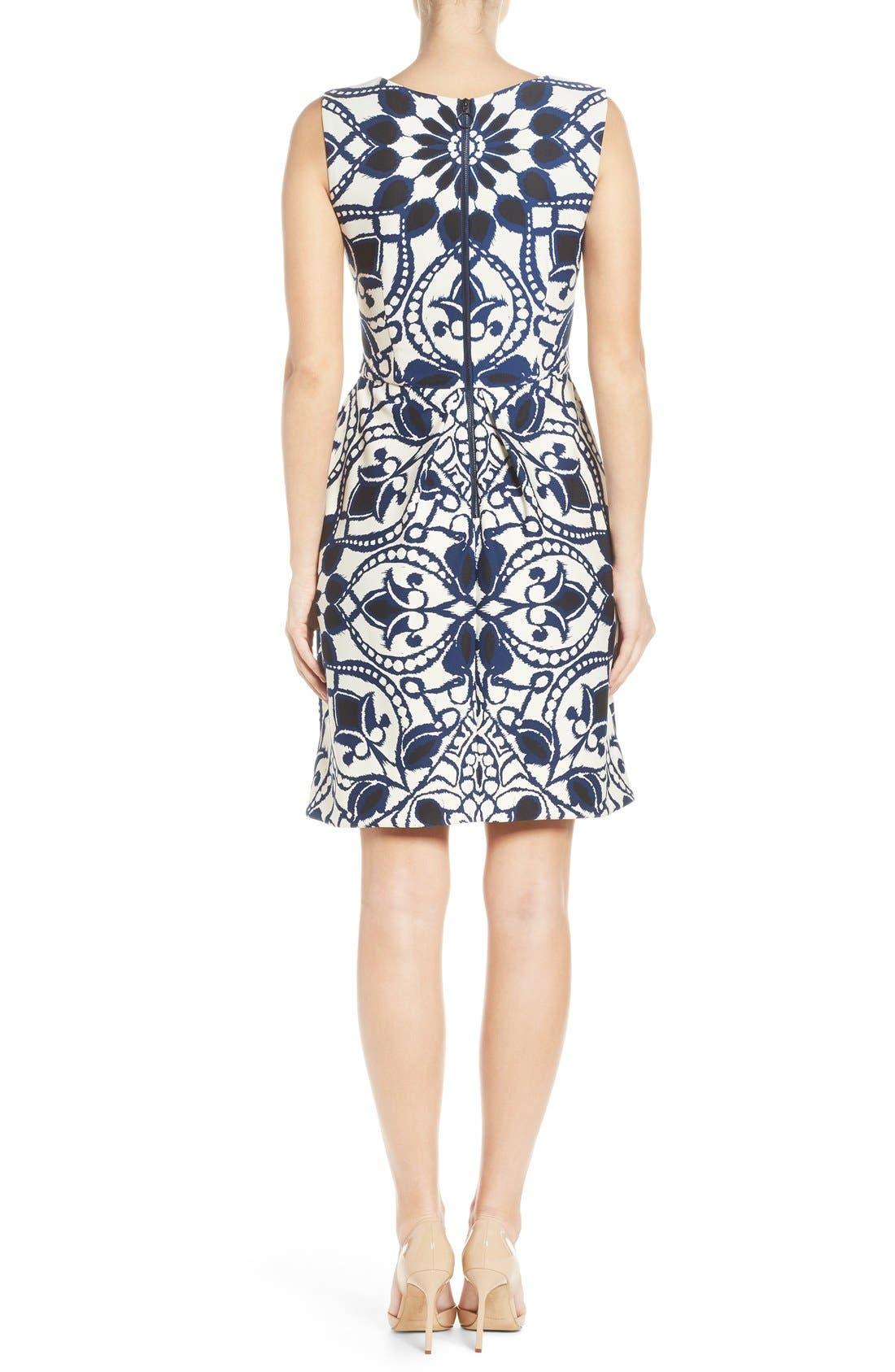 Alternate Image 2  - Taylor Dresses Mirror Print Fit & Flare Dress