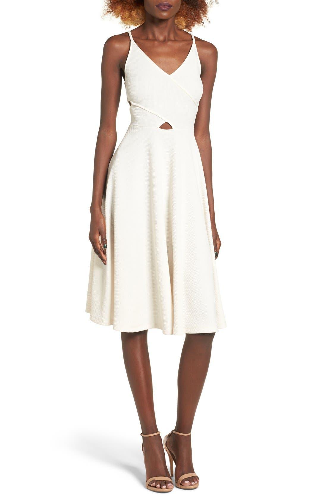 Alternate Image 1 Selected - Soprano Cutout Midi Dress