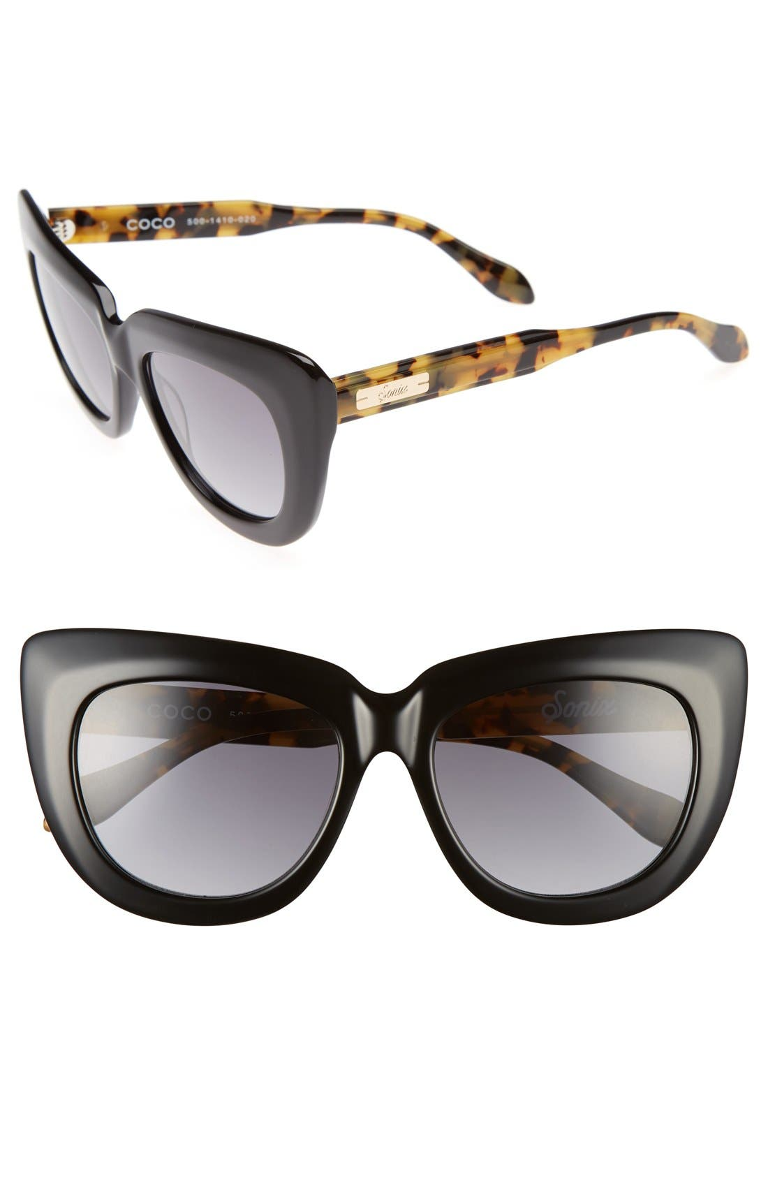 Sonix Coco 55mm Gradient Cat Eye Sunglasses