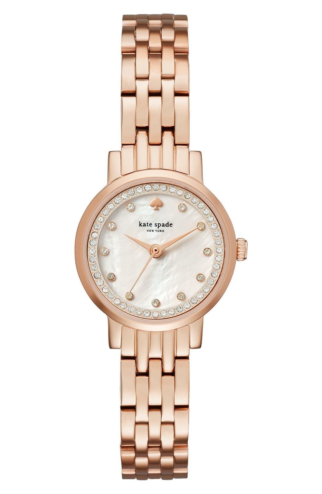 Main Image - kate spade new york mini monterey glitz bracelet watch, 24mm