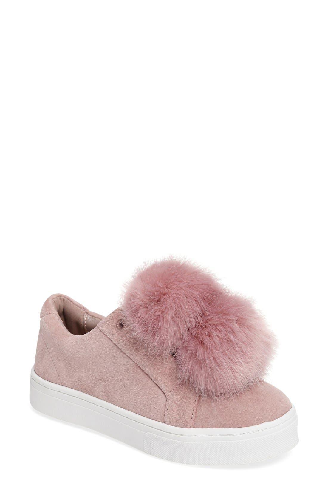 Alternate Image 1 Selected - Sam Edelman 'Leya' Faux Fur Laceless Sneaker (Women)