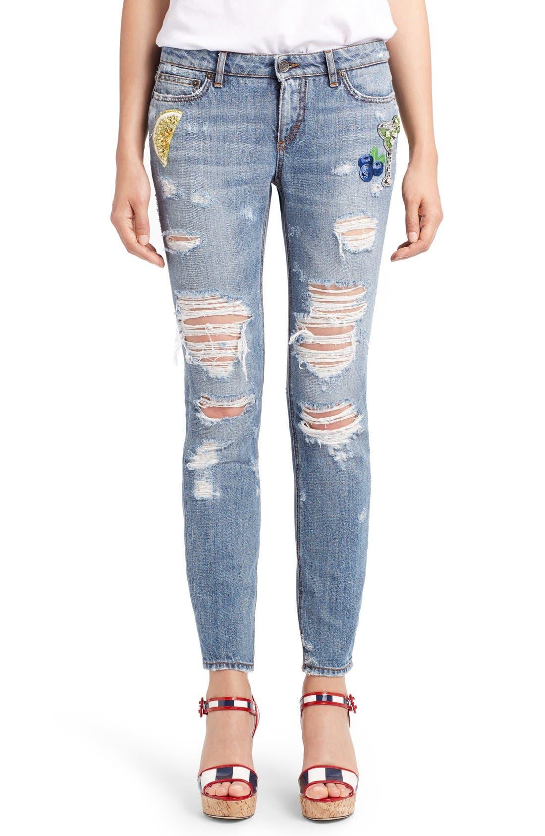 Alternate Image 1 Selected - Dolce&Gabbana Embellished Skinny Jeans