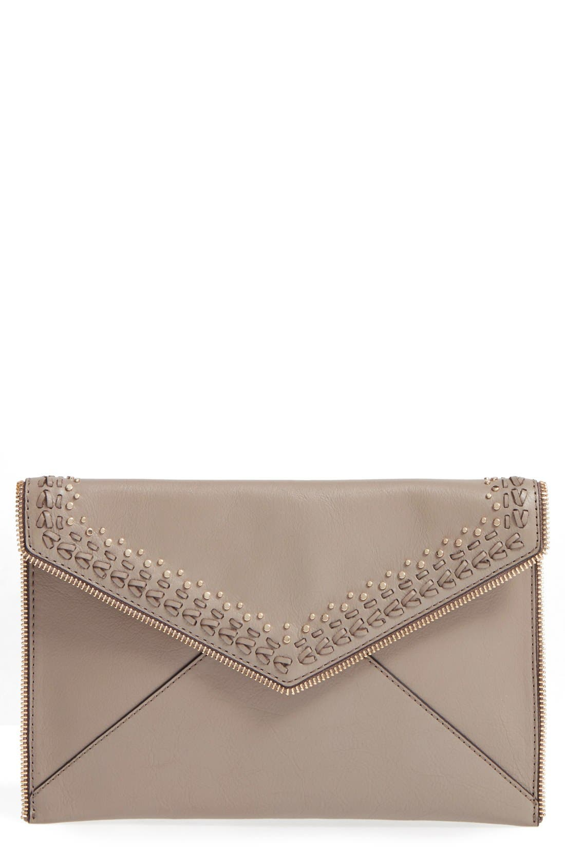 Alternate Image 1 Selected - Rebecca Minkoff 'Whipstitch Leo' Leather Clutch
