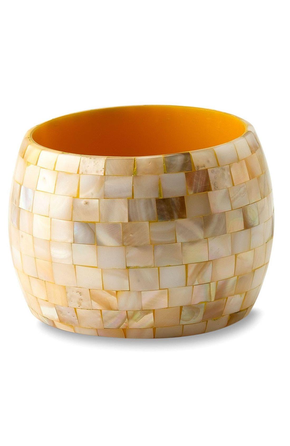 Main Image - Tasha Wide Mosaic Bangle Bracelet