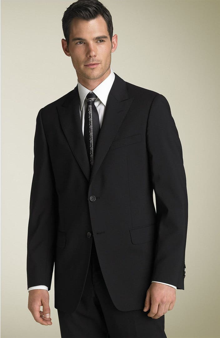 Versace Collection Black Stretch Wool Suit | Nordstrom