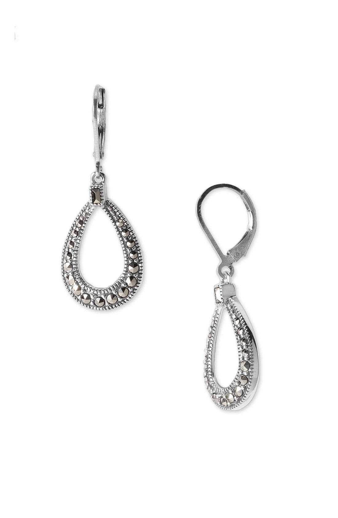 Alternate Image 1 Selected - Judith Jack Marcasite Teardrop Earrings