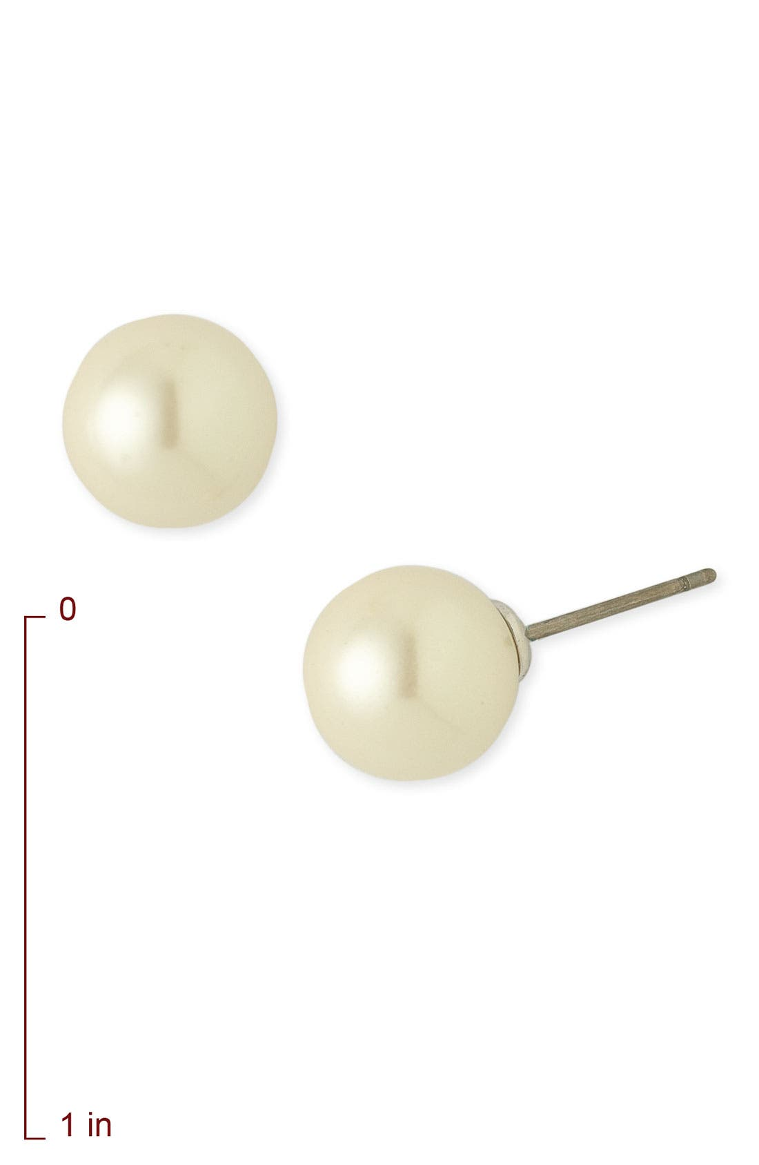 Alternate Image 2  - Nordstrom 10mm Glass Pearl Stud Earrings