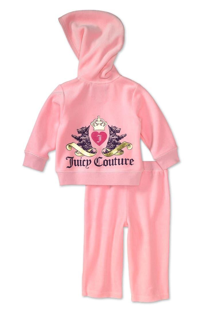 Juicy Couture Two Piece Velour Jogging Set Infant