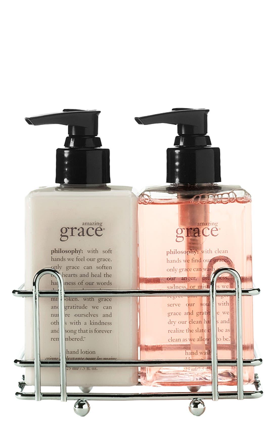 Main Image - philosophy 'amazing grace' hand wash & hand lotion set ($36 Value)