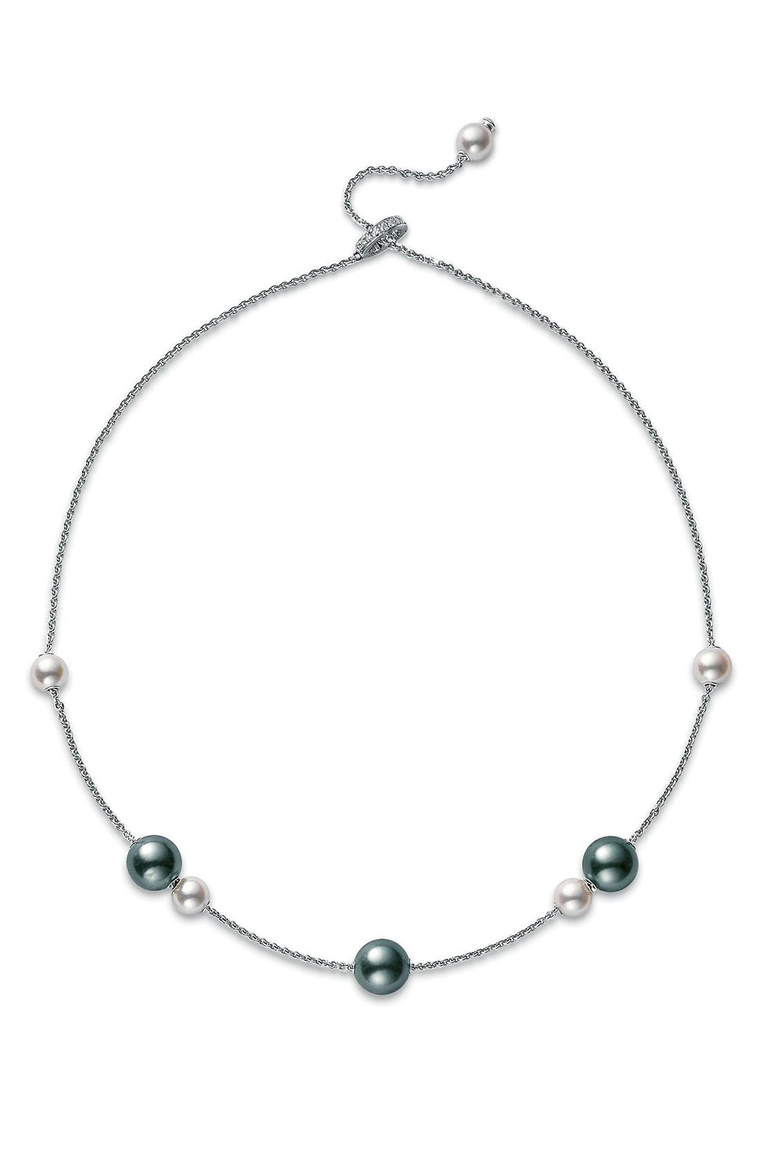 Alternate Image 2  - Mikimoto 'Pearls in Motion' Black South Sea & Akoya Cultured Pearl Necklace