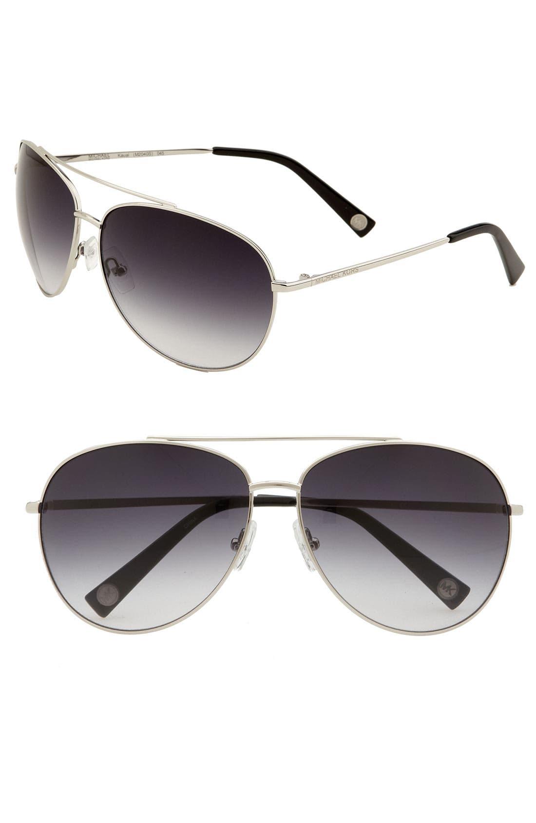 Alternate Image 1 Selected - MICHAEL Michael Kors Aviator Sunglasses