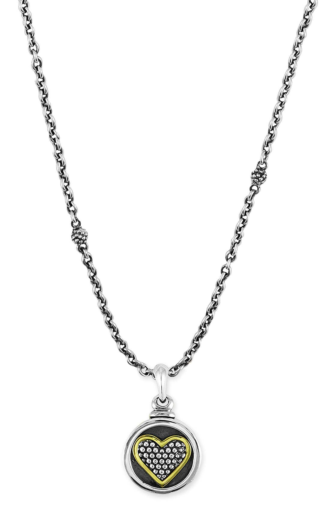 Main Image - LAGOS Heart Locket Caviar Necklace