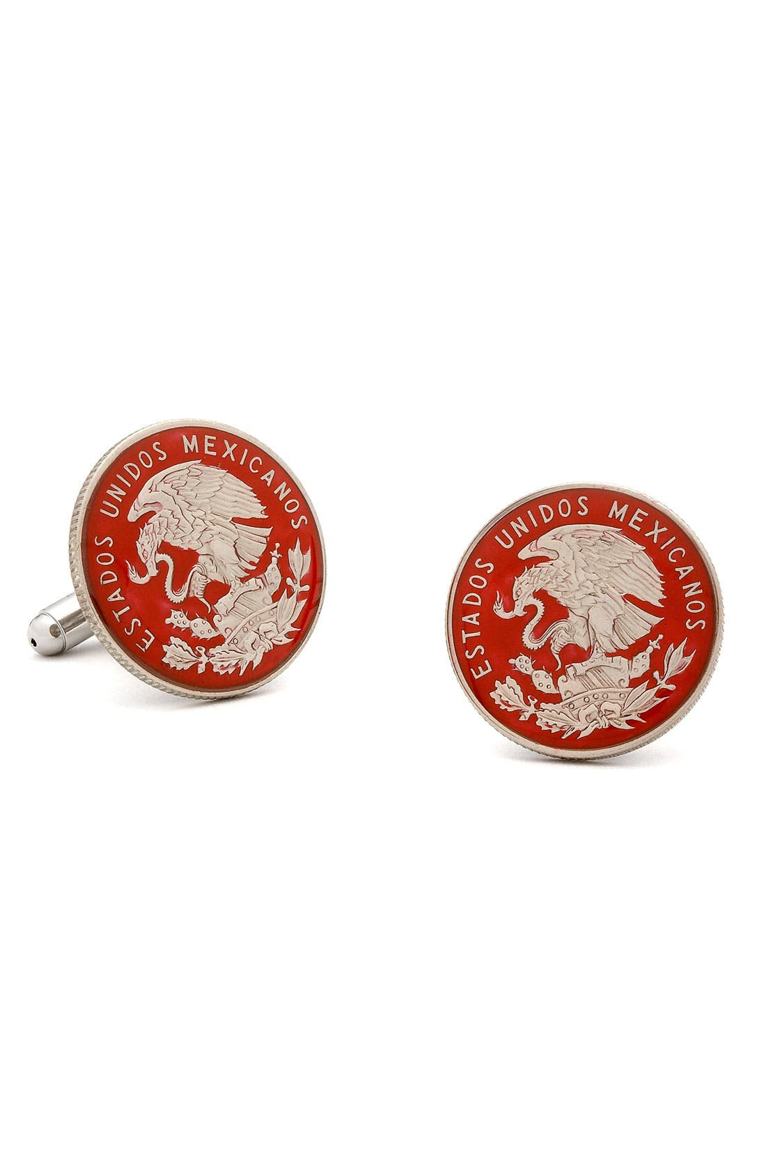 Alternate Image 1 Selected - Penny Black 40 Mexican Peso Cuff Links
