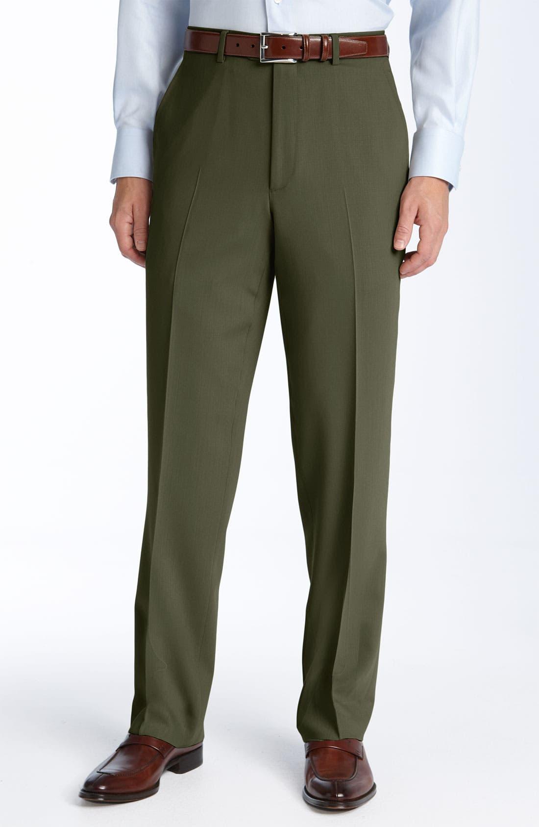 Main Image - Pazoni Flat Front Wool Trousers