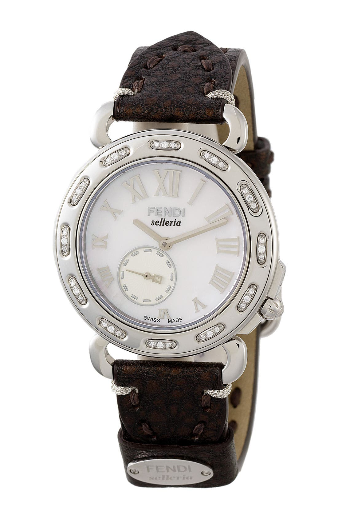 Alternate Image 1 Selected - Fendi 'Selleria' Diamond Customizable Watch