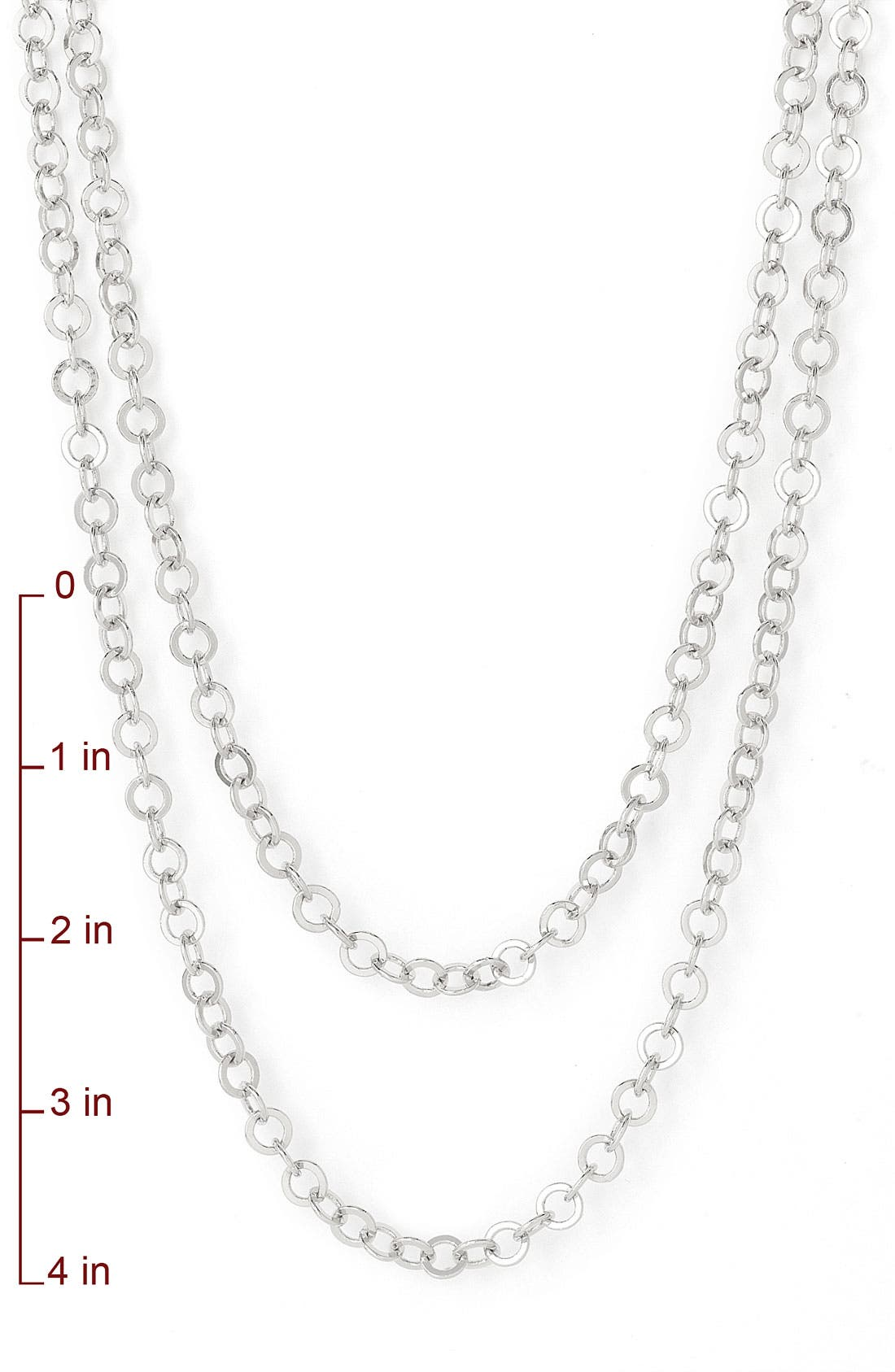 Alternate Image 2  - Nordstrom Interlocking Circles Long Strand Necklace