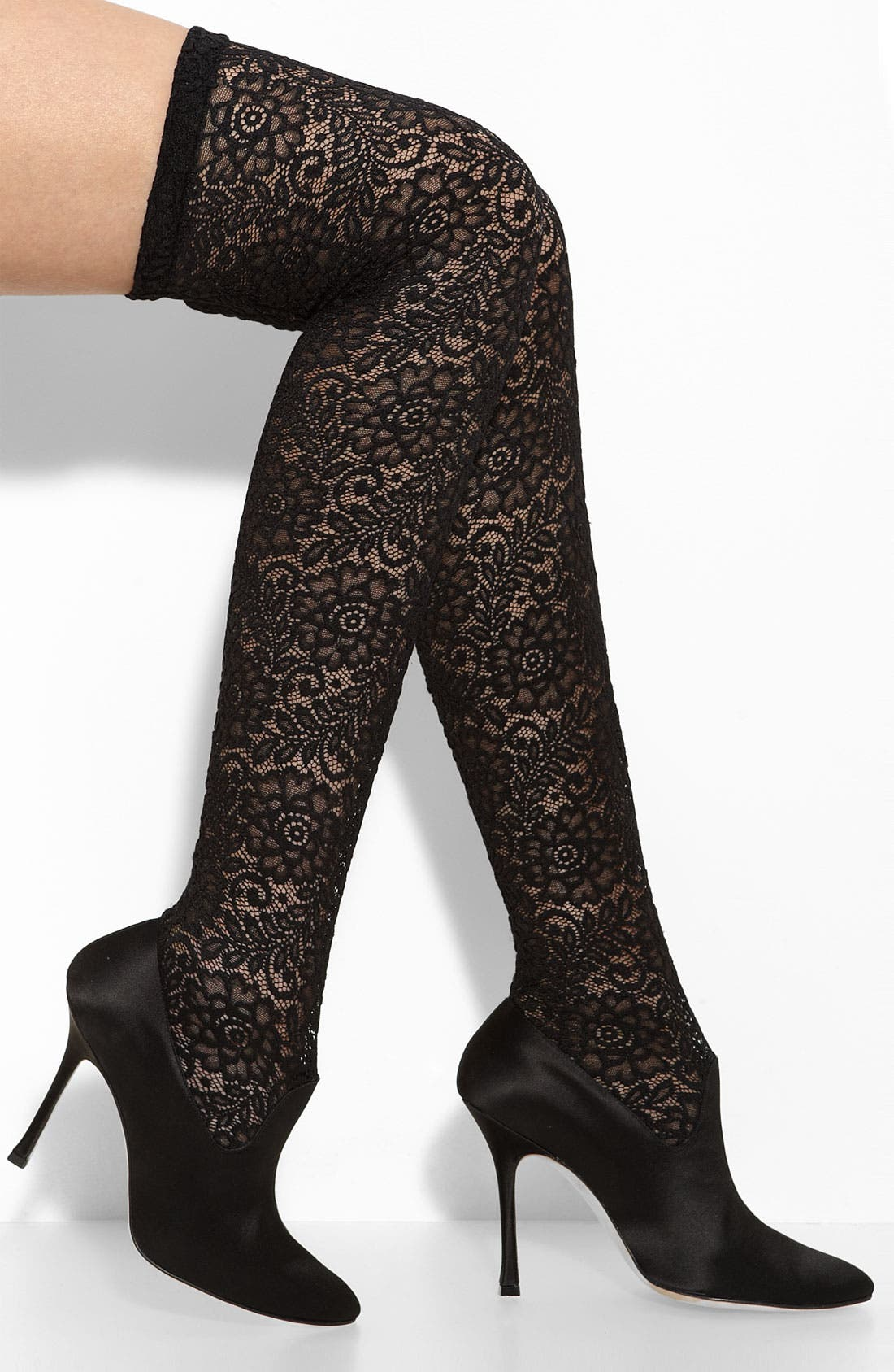 Main Image - Manolo Blahnik 'Pascalare' Over the Knee Stretch Lace Boot