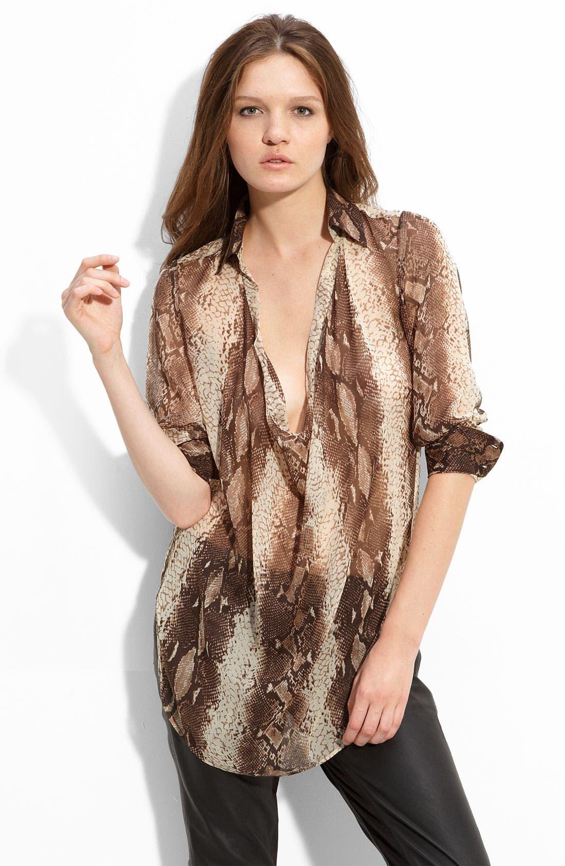 Main Image - Haute Hippie Snake Print Silk Tunic