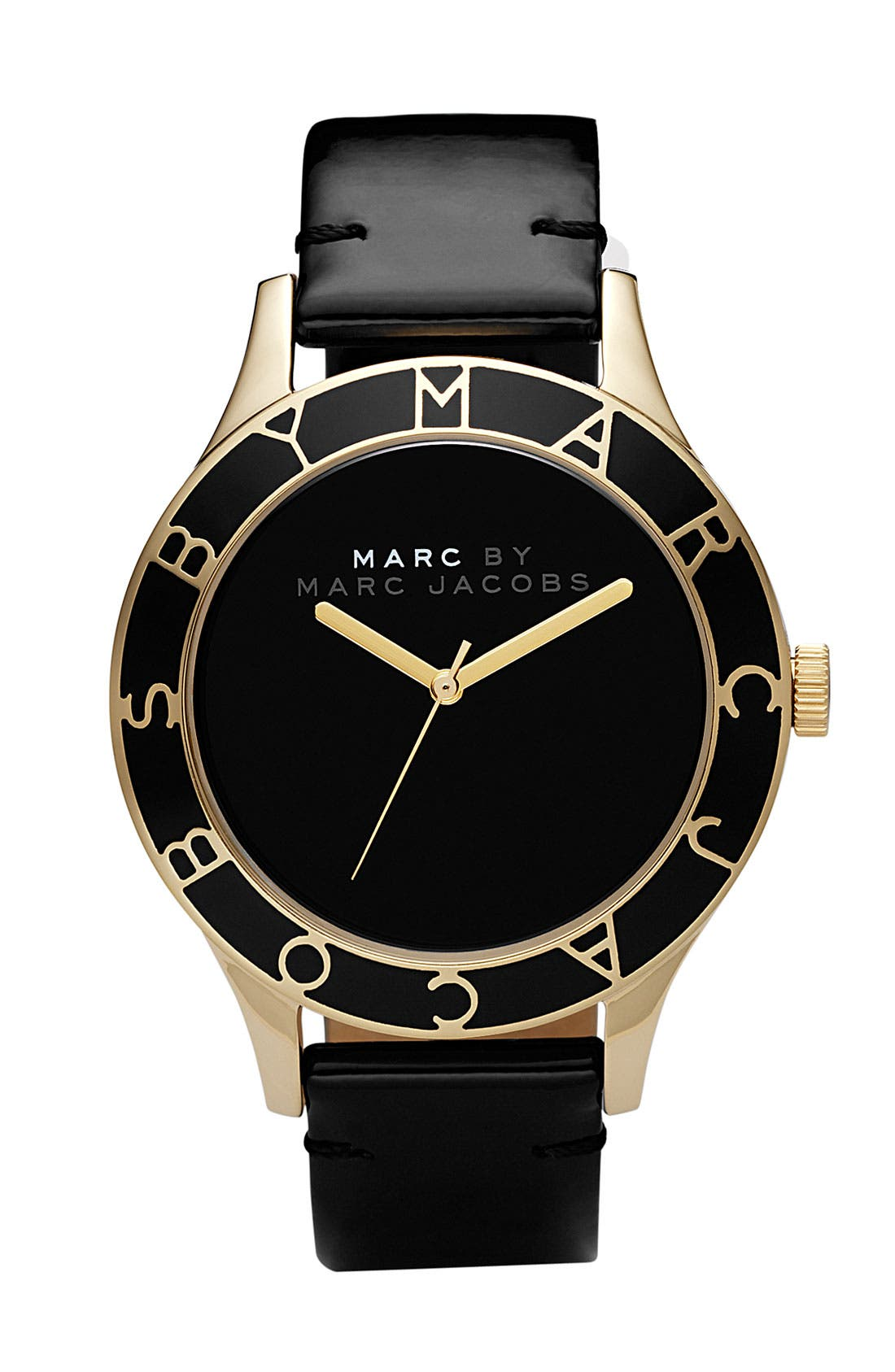 Alternate Image 1 Selected - MARC BY MARC JACOBS Patent Strap Oversized Watch