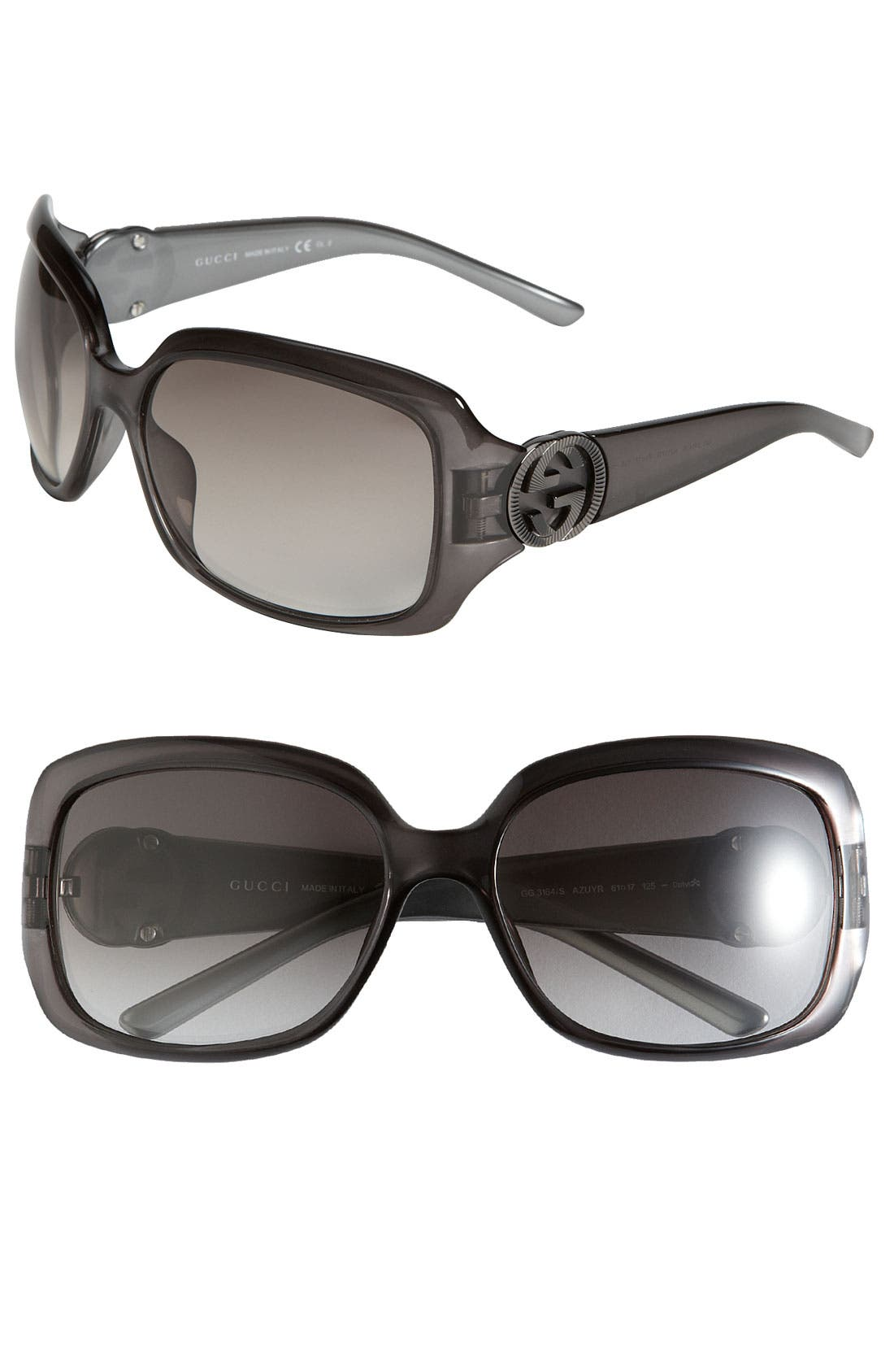 Alternate Image 1 Selected - Gucci 61mm Square Frame Sunglasses