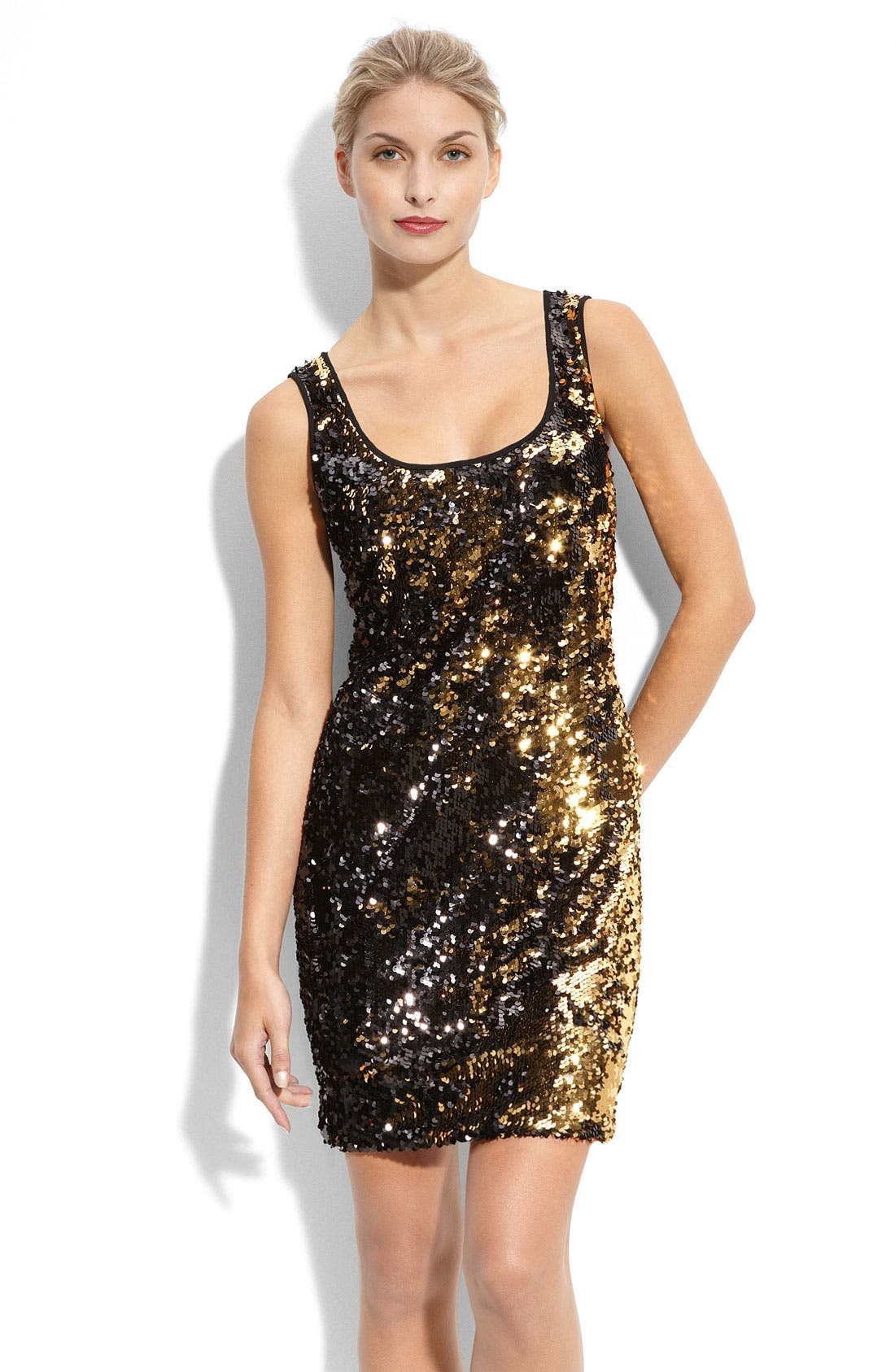 Main Image - Calvin Klein Sequin Tank Dress