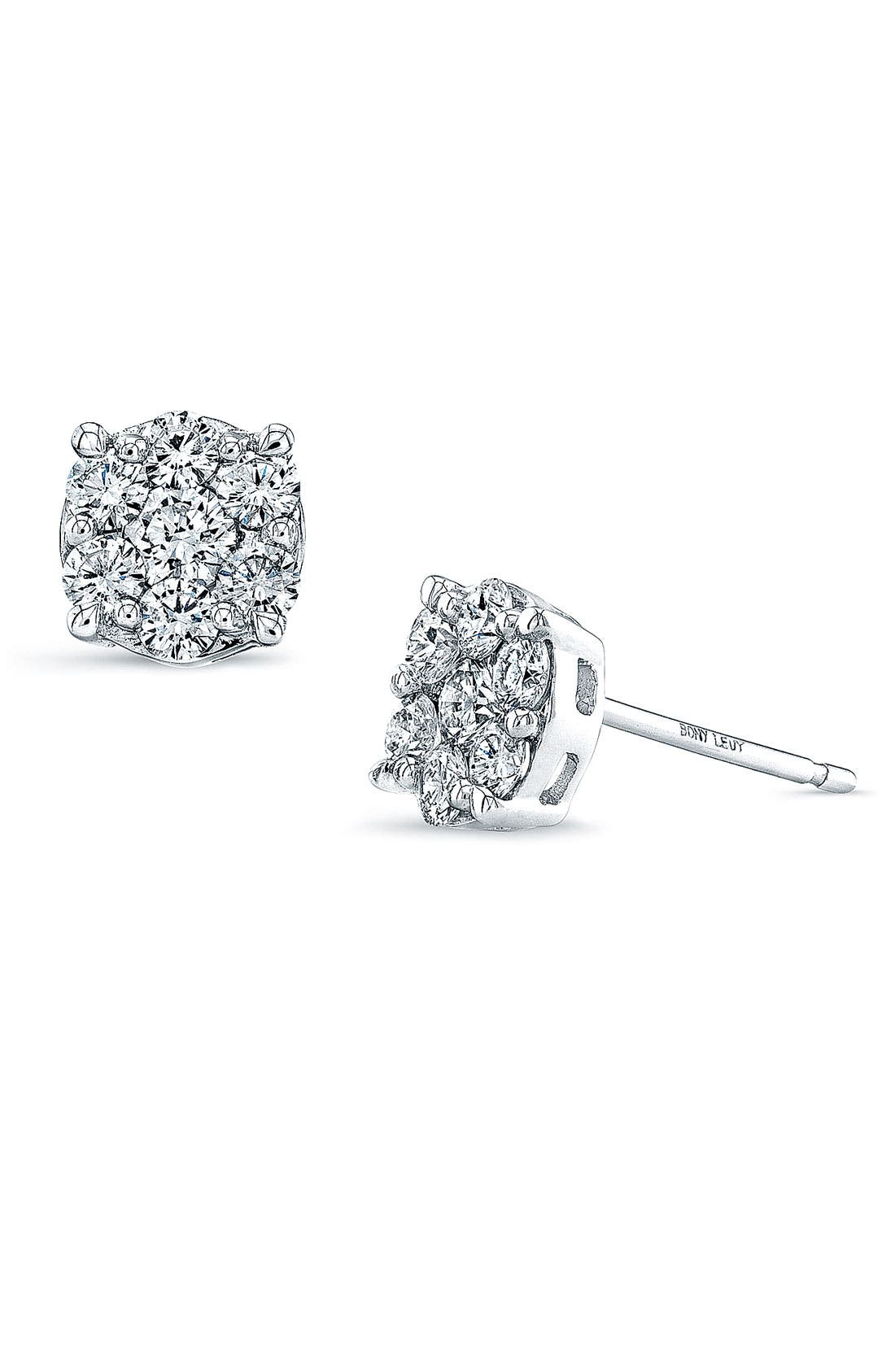 Alternate Image 1 Selected - Bony Levy 'Lucky 7' Diamond Stud Earrings (Nordstrom Exclusive)