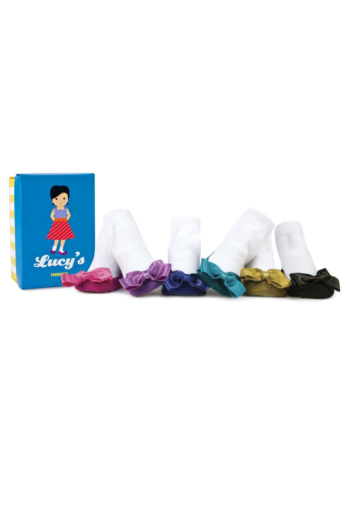Main Image - Trumpette 'Ballerina' Socks Gift Set (Baby Girls)