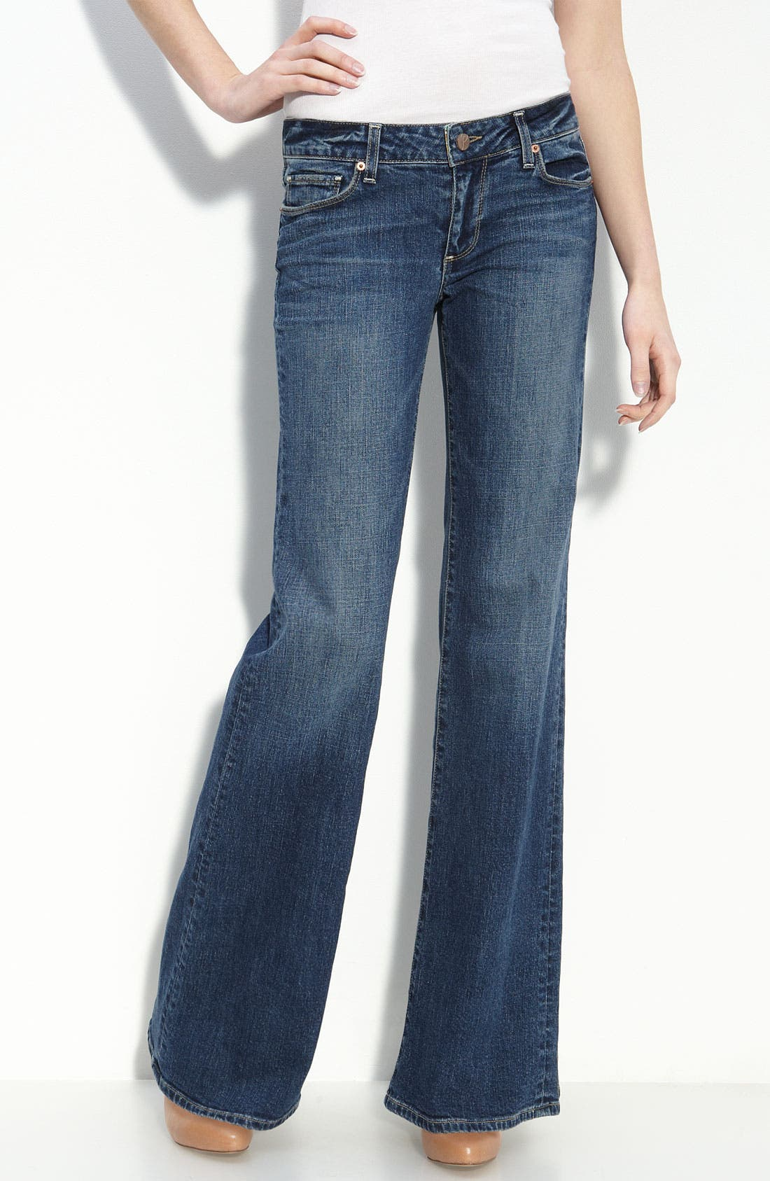 Alternate Image 1 Selected - Paige Denim 'Bentley' Stretch Denim Trouser Jeans (Colette Wash)