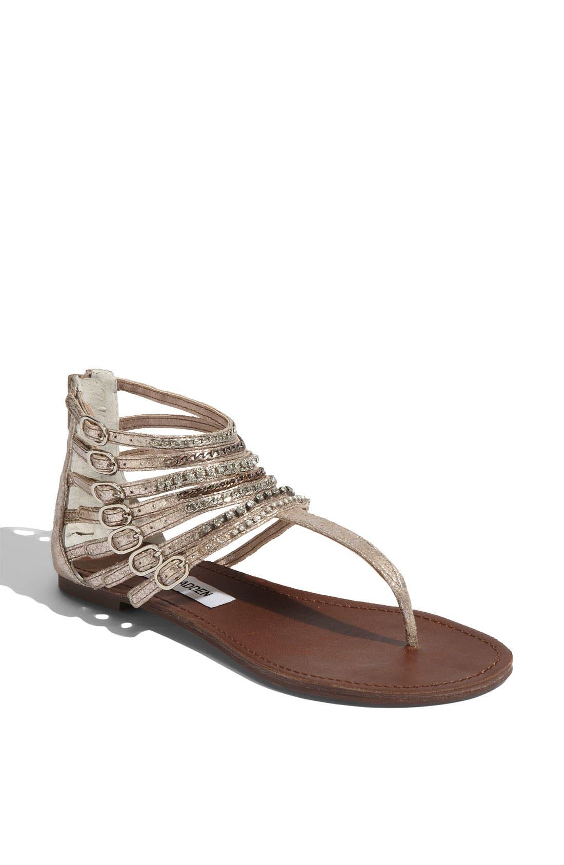 Alternate Image 1 Selected - Steve Madden 'Simple' Leather Sandal