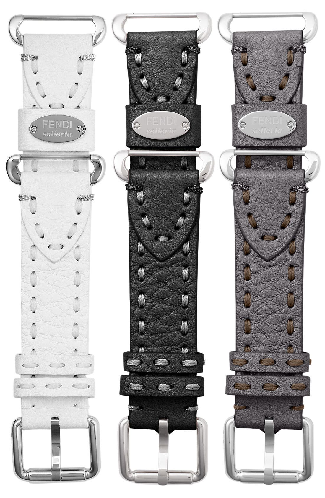 Alternate Image 2  - Fendi 'Selleria' 18mm Watch Strap