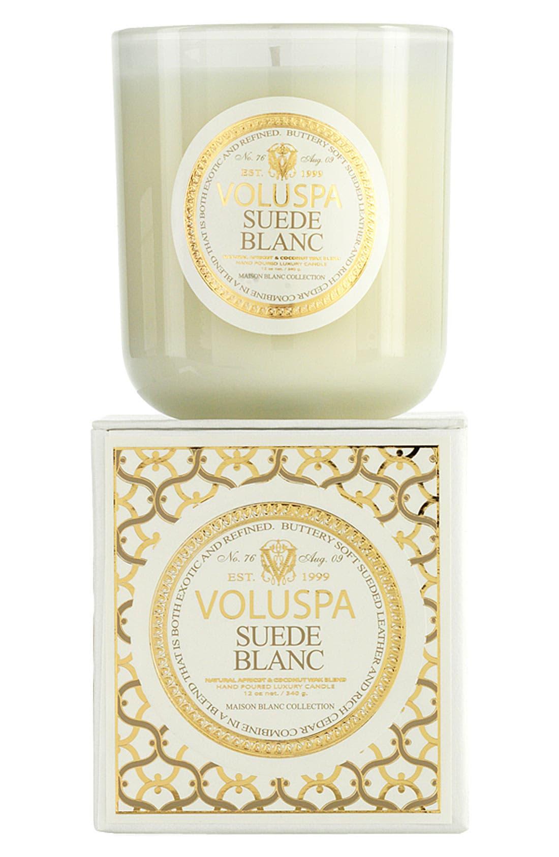 Voluspa 'Maison Blanc - Suede Blanc' Boxed Candle