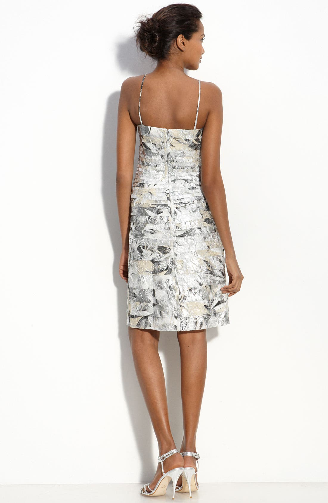 Alternate Image 2  - JS Collections Tiered Metallic Crepe Sheath Dress