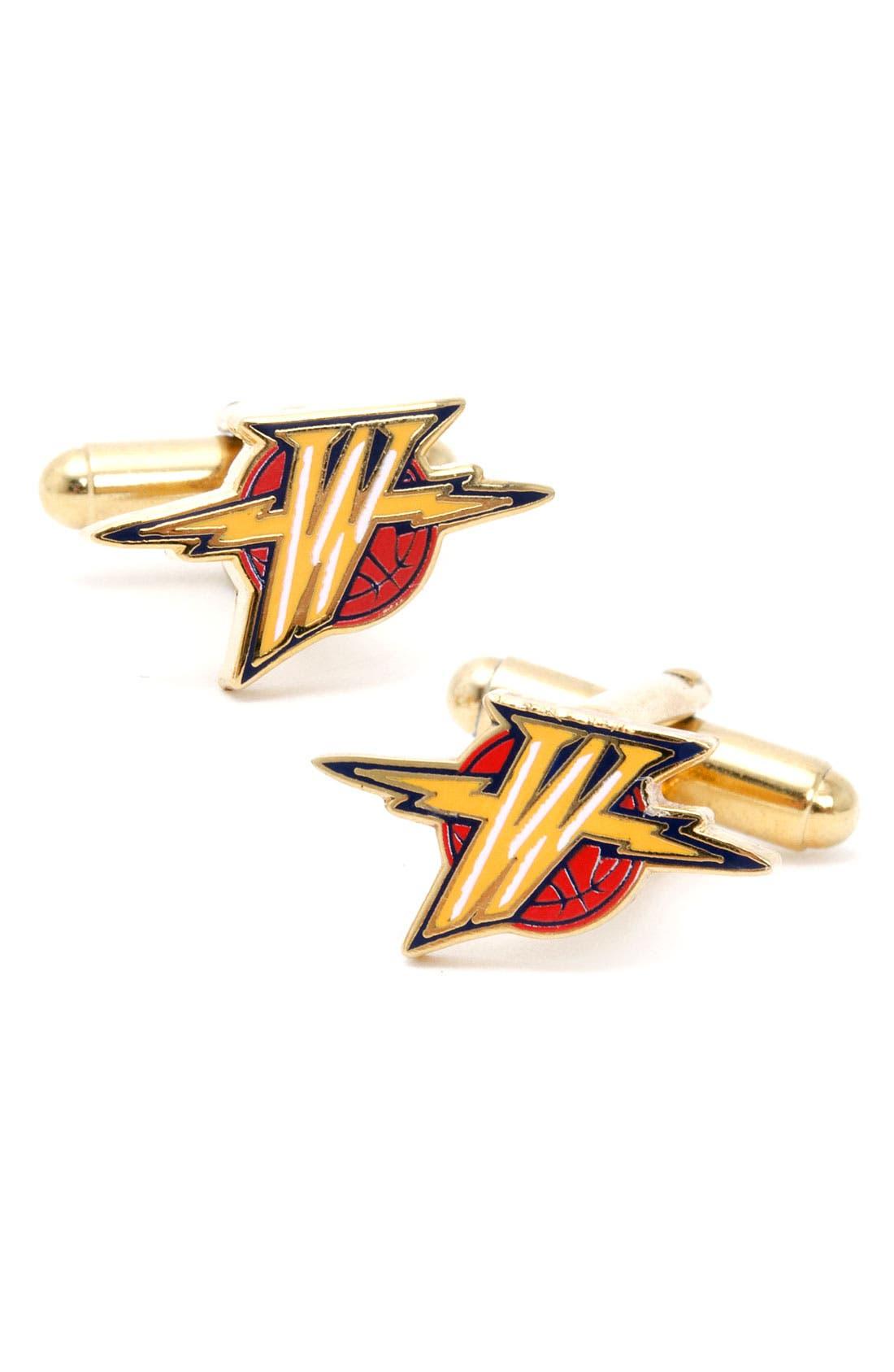 Main Image - Cufflinks, Inc. 'Golden State Warriors' Cuff Links
