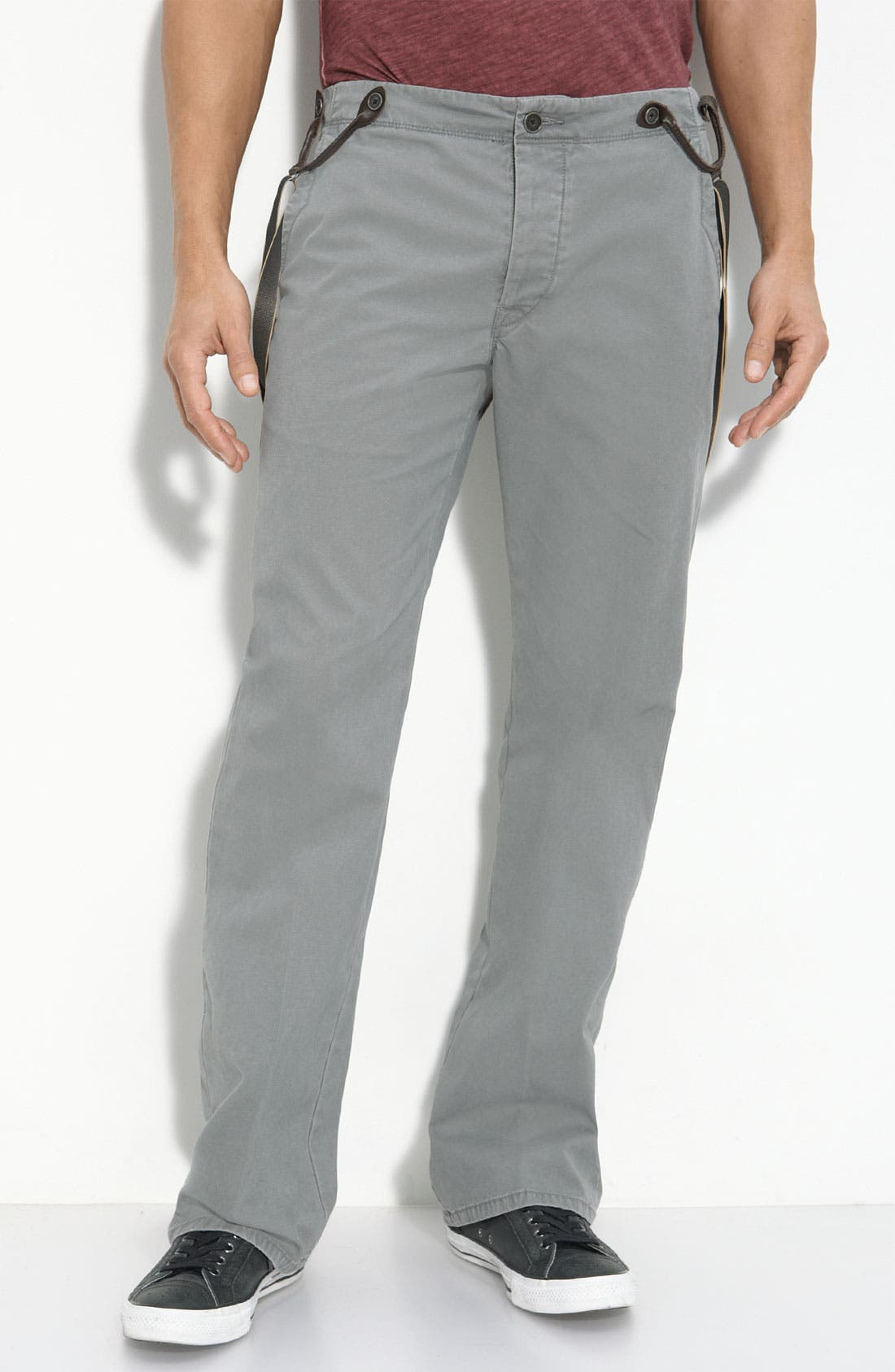 Alternate Image 1 Selected - SLIM LEG SPLIT BACK TROUSER W/SUSPENDERS