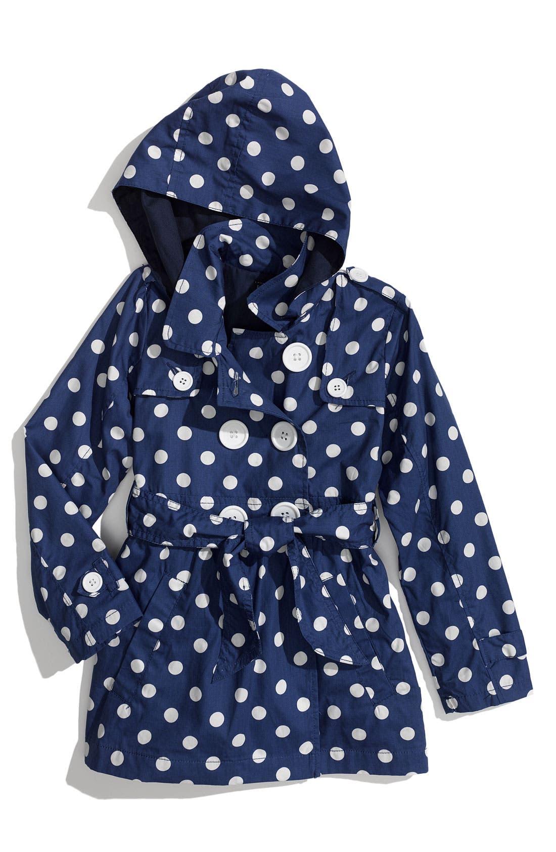 Main Image - Pumpkin Patch 'Spotty' Print Trench Coat (Little Girls)