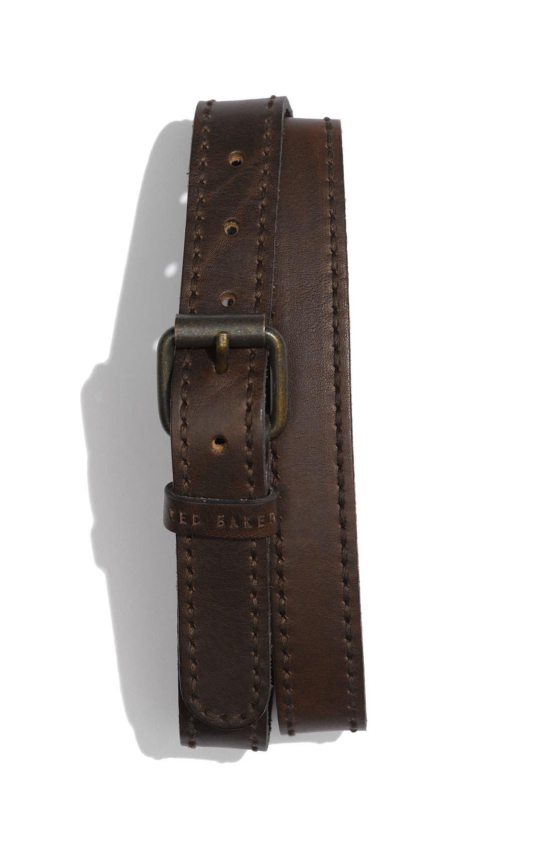 Alternate Image 1 Selected - Ted Baker London 'Braska' Casual Leather Belt