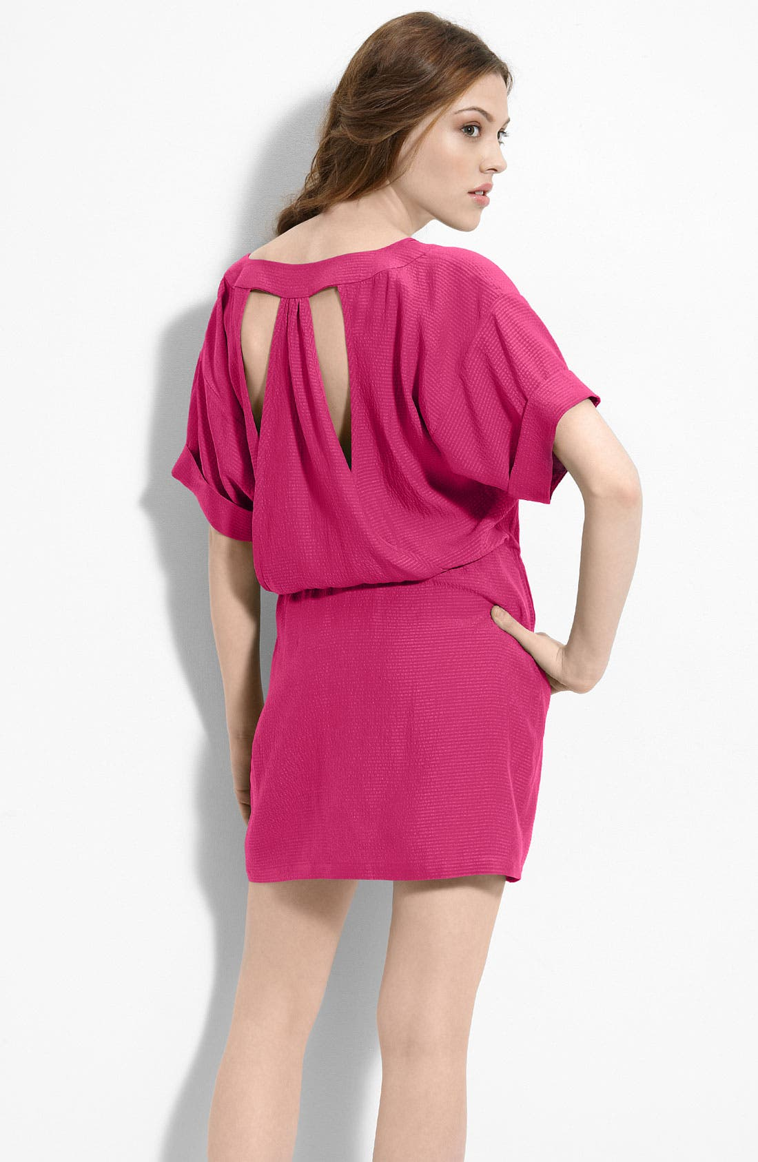 Main Image - Myne Cutout Back Silk Dress