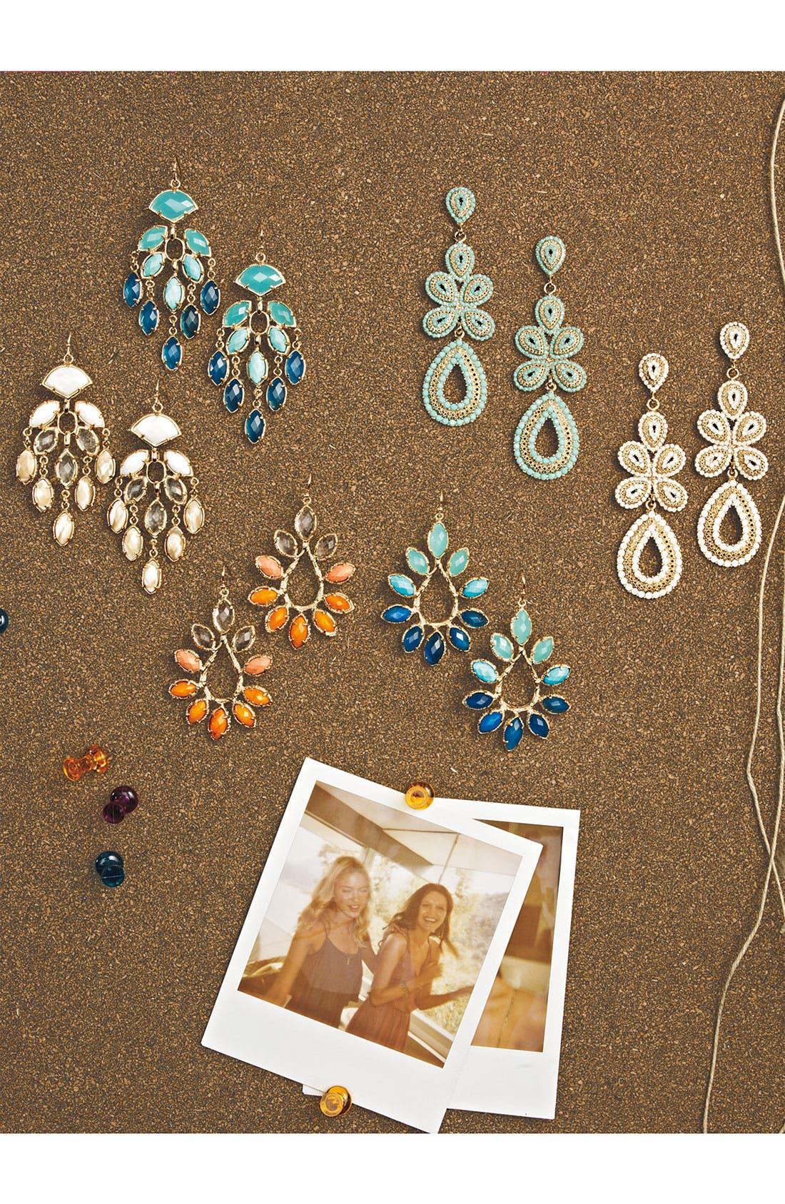 Alternate Image 4  - Kendra Scott 'Nyla' Large Teardrop Floral Earrings