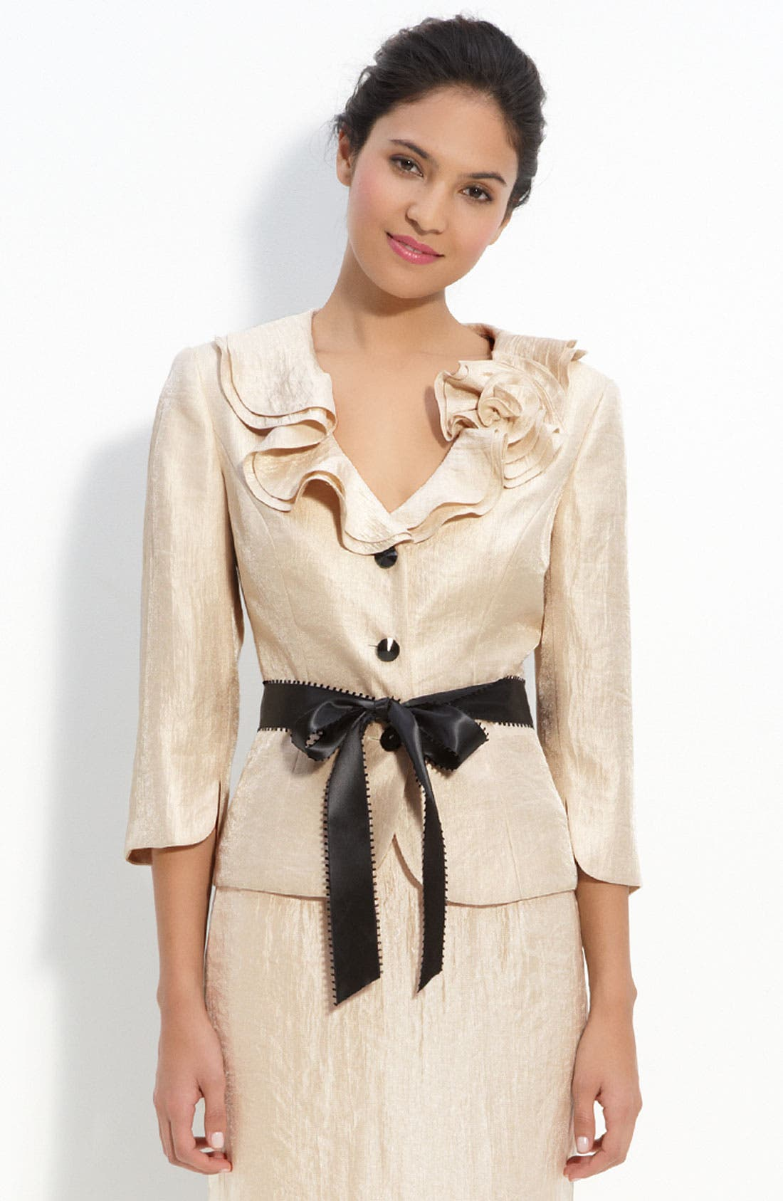 Alternate Image 1 Selected - Adrianna Papell Shimmer Crepe Jacket